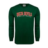 State Dark Green Long Sleeve T Shirt-Volleyball