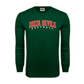 State Dark Green Long Sleeve T Shirt-Softball