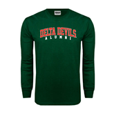 State Dark Green Long Sleeve T Shirt-Alumni