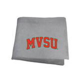 State Grey Sweatshirt Blanket-Arched MVSU