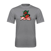 State Performance Grey Concrete Tee-Devils