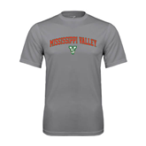 State Performance Grey Concrete Tee-Arched Mississippi Valley