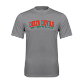 State Performance Grey Concrete Tee-Arched Delta Devils