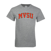 State Grey T Shirt-Arched MVSU