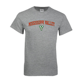 State Grey T Shirt-Arched Mississippi Valley