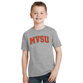 State Youth Grey T-Shirt-Arched MVSU