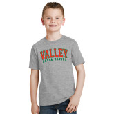 State Youth Grey T-Shirt-Arched Valley Delta Devils