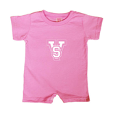 State Bubble Gum Pink Infant Romper-VS