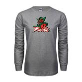 State Grey Long Sleeve TShirt-Devils