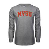 State Grey Long Sleeve TShirt-Arched MVSU