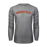 State Grey Long Sleeve TShirt-Arched Mississippi Valley