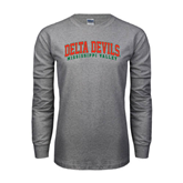 State Grey Long Sleeve TShirt-Arched Delta Devils
