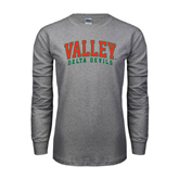 State Grey Long Sleeve TShirt-Arched Valley Delta Devils