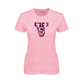 State Ladies Pink T Shirt-VS Foil