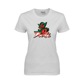 State Ladies White T Shirt-Devils