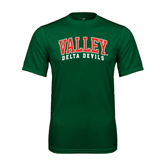 State Performance Dark Green Tee-Arched Valley Delta Devils