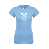 State Ladies SoftStyle Junior Fitted Light Blue Tee-VS
