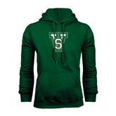 State Dark Green Fleece Hood-VS