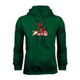 State Dark Green Fleece Hood-Devils