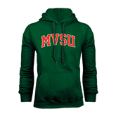 State Dark Green Fleece Hood-Arched MVSU