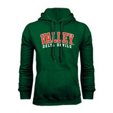 State Dark Green Fleece Hood-Arched Valley Delta Devils