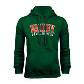State Dark Green Fleece Hood-Arched Valley Delta Devils