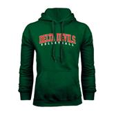 State Dark Green Fleece Hood-Volleyball