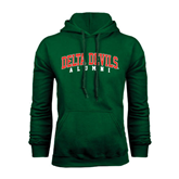 State Dark Green Fleece Hood-Alumni
