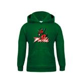 State Youth Dark Green Fleece Hood-Devils