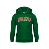 State Youth Dark Green Fleece Hood-Arched Delta Devils
