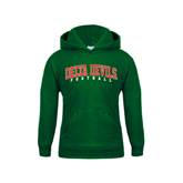 State Youth Dark Green Fleece Hood-Football
