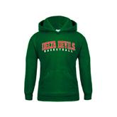 State Youth Dark Green Fleece Hoodie-Basketball