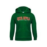 State Youth Dark Green Fleece Hood-Baseball