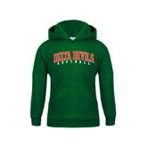 State Youth Dark Green Fleece Hood-Softball
