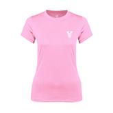 State Ladies Performance Light Pink Tee-VS