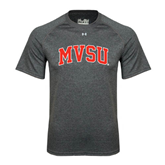 State Under Armour Carbon Heather Tech Tee-Arched MVSU