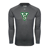 State Under Armour Carbon Heather Long Sleeve Tech Tee-VS