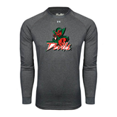 State Under Armour Carbon Heather Long Sleeve Tech Tee-Devils