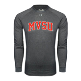 State Under Armour Carbon Heather Long Sleeve Tech Tee-Arched MVSU