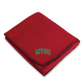 State Red Arctic Fleece Blanket-Arched MVSU