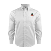 State Red House White Long Sleeve Shirt-Devils
