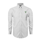 State Mens White Oxford Long Sleeve Shirt-VS