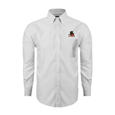 State Mens White Oxford Long Sleeve Shirt-Devils
