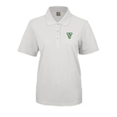 State Ladies Easycare White Pique Polo-VS