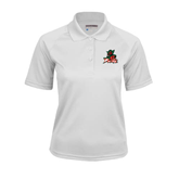 State Ladies White Textured Saddle Shoulder Polo-Devils