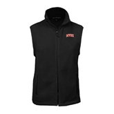 State Fleece Full Zip Black Vest-Arched MVSU