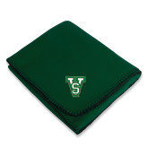 State Dark Green Arctic Fleece Blanket-VS