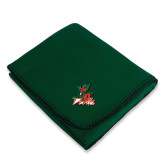 State Dark Green Arctic Fleece Blanket-Devils