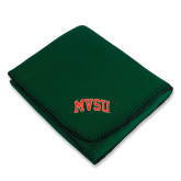 State Dark Green Arctic Fleece Blanket-Arched MVSU