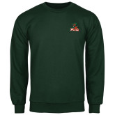 State Dark Green Fleece Crew-Devils